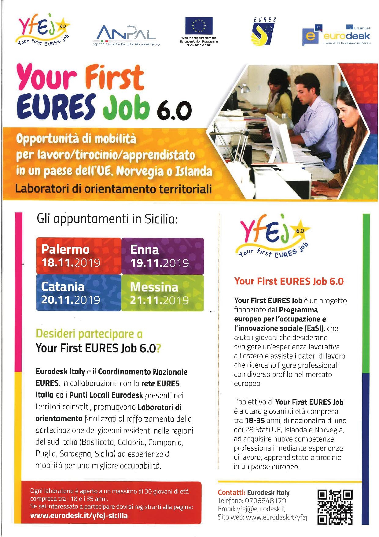 Locandina Your First EURES job 6.0